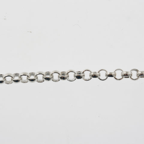Sterling silver chain, medium belcher, in 56cm, 60cm or 90cm