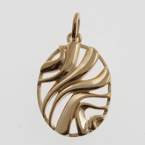 Merging streams pendant in rose gold plated sterling silver