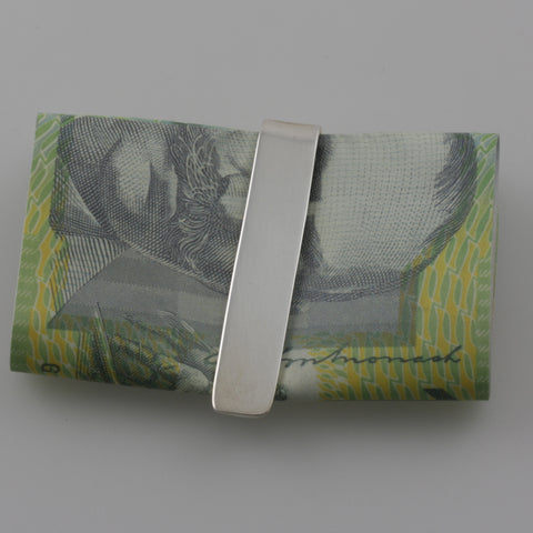 Plain sterling silver money clip