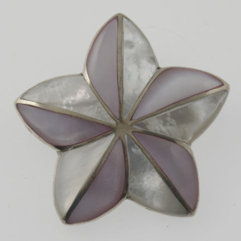 Mother of pearl star pendant/ brooch