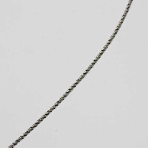 Sterling silver oxidised snake chain 45 cm