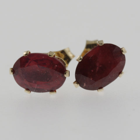Ruby oval 2ct studs