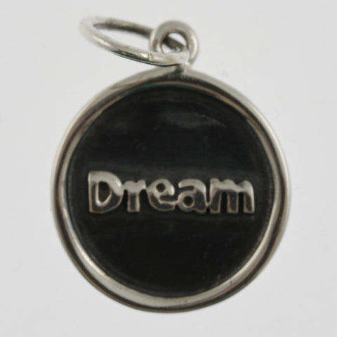 Inspiration silver oxidised pendant- dream