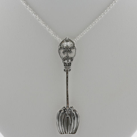Detailed sterling silver spoon or pendant