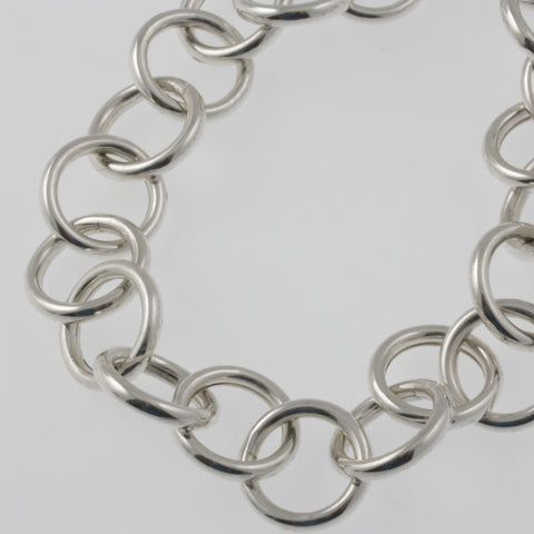 Statement chain silver necklace