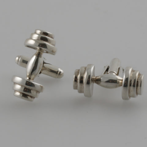 Bar sterling silver cufflinks