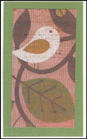 Bird in a tree handmade gift card