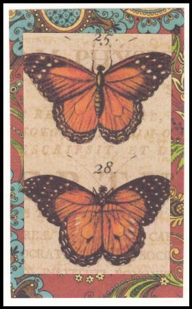 Monarch butterfly handmade gift card