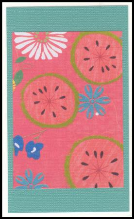 Watermelon handmade gift card
