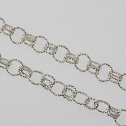 Twisted links sterling silver chain