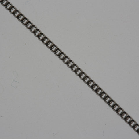 18 carat white gold curb chain 40cm