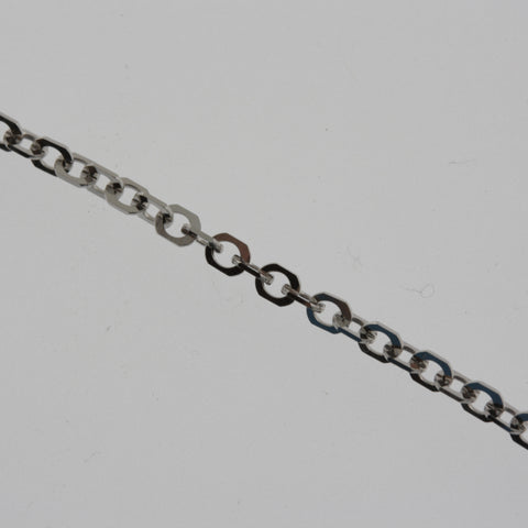 18 carat white gold diamond cut chain