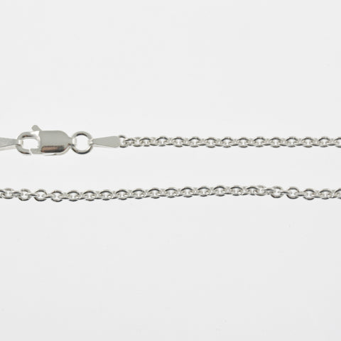 Sterling silver chain, light belcher, 46cm