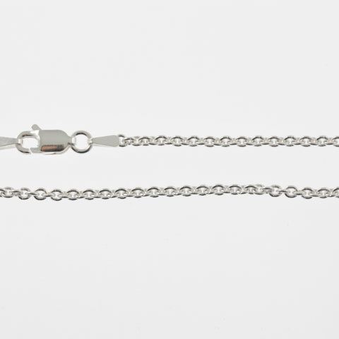 Sterling silver chain, light belcher, 41cm