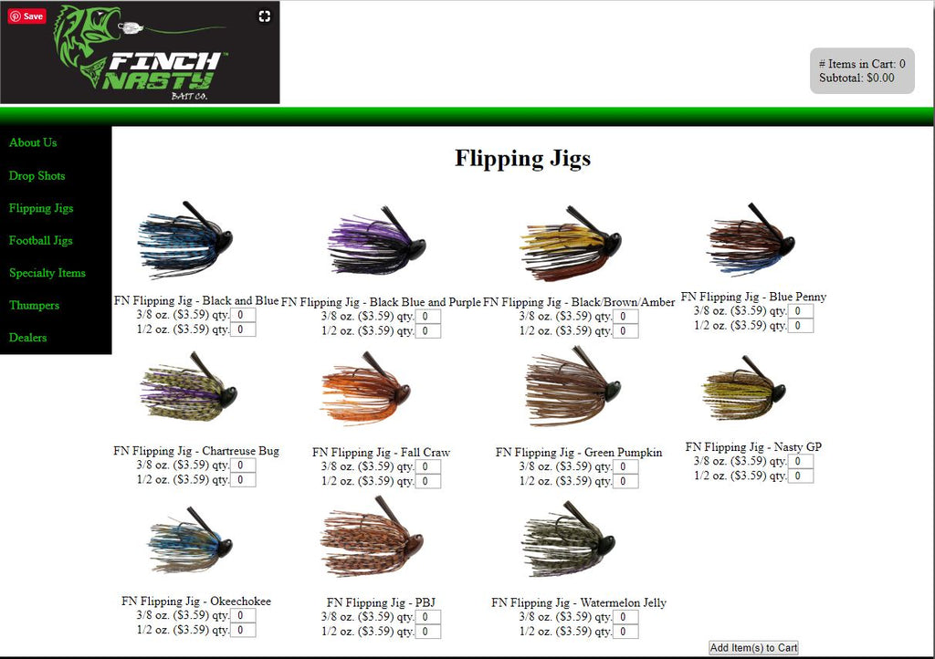 Finch Nasty Website Evolution. Remember this?