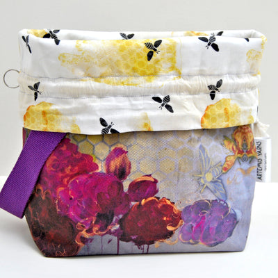 Busy Bee Shawl lover project bag - Sac à projet Busy Bee