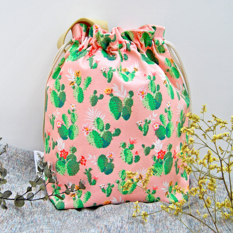 Cactus Shawl lover project bag - Sac à projet Cactus