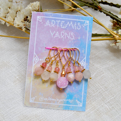 Set of 7 Artemis stitch marker - Set de 7 Repères tricot