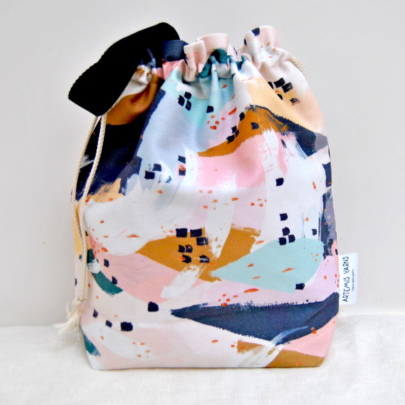 Pastel Dream Shawl lover project bag - Sac à projet Pastel