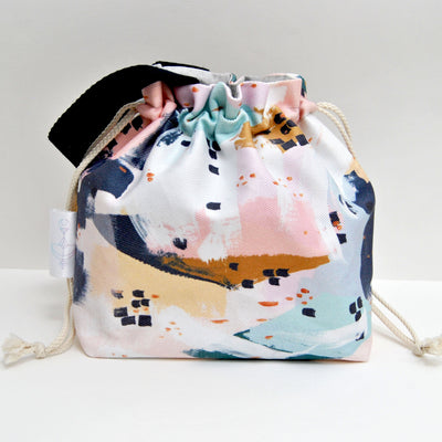 Pastel Dream Sock Buddy project bag - Sac à projet Pastel Dream