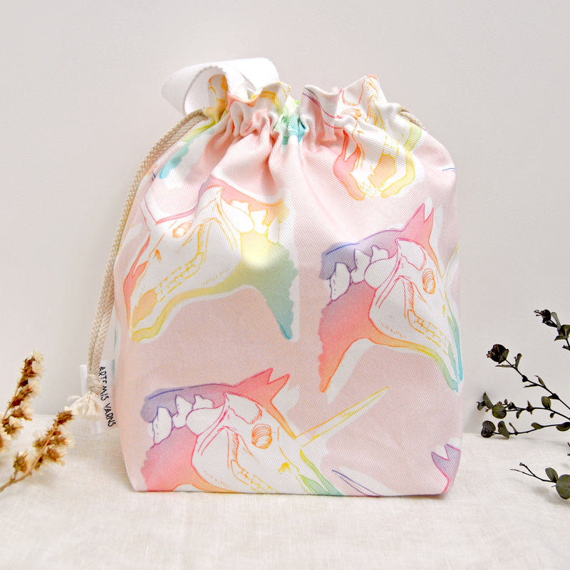 Shawl lover Unicorn project bag - Sac à projet Licorne