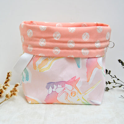 Shawl lover Unicorn (pink lining) project bag - Sac à projet Licorne