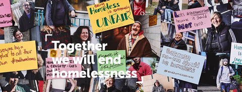 Collage of end homelessness images