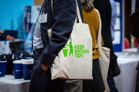 Keep Britain Tidy branded canvas bag