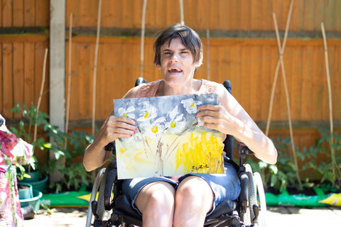 Image of a girl in a wheelchair