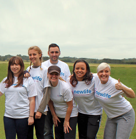 Newlife fundraisers stood together at an event