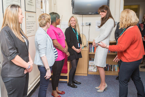 Image of the Duchess of Cambridge visiting The Forward Trust