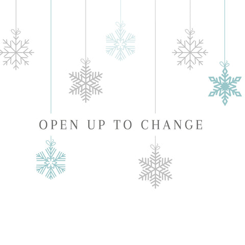 Advent of Change 'open up to change' banner