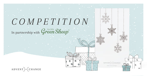 Advent of Change in partnership with The Little Green Sheep competition banner