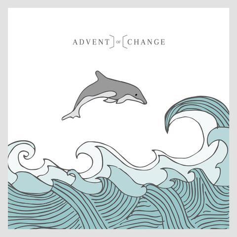 Advent of Change illustrated dolphin jumping in the sea