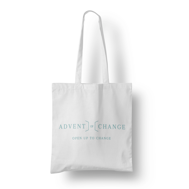 The Advent of Change cotton tote bag