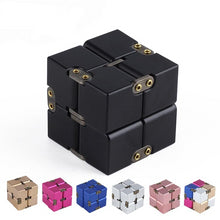 Load image into Gallery viewer, Premium Metal Infinity Cube Fidget Toy Aluminium