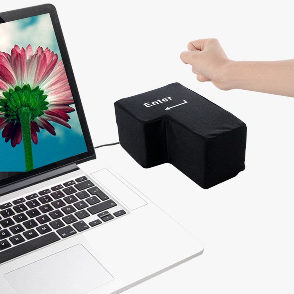 Giant Button Enter Key Anti-stress with USB input