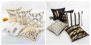 Elegant pillows to decorate with metal designs