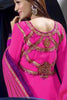 Premium Faux Georgette Party Wear Anarkalis:atisundar wonderful 60 Gm Georgette Designer Semi-stitched Party Wear Anarkalis in Pink - 5798 - atisundar - 4 - click to zoom