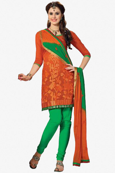 atisundar Urvi: Beauteous Unstitched Embroidered Straight Cut Salwar Kameez - 3748 - click to zoom