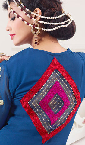 Designer Embroidered Suit:atisundar divine Blue Designer Embroidered Suits - 8681 - atisundar - 3