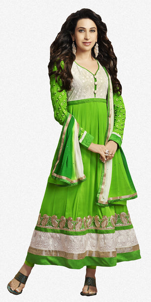 The Karishma Kapoor Collection:atisundar angelic Green Blended Semi Pure Georgette Embroidered Anarkali - 6048 - atisundar - 1 - click to zoom