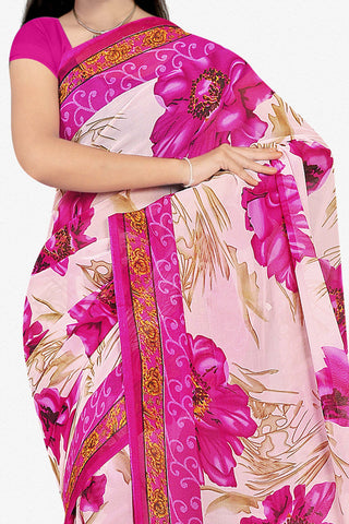 Designer Saree:atisundar beauteous Designer Saree in Faux Georgette in Pink  - 11686 - atisundar - 2