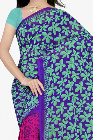 Designer Saree:atisundar beauteous Designer Saree in Faux Georgette in Turquoise  - 11688 - atisundar - 2