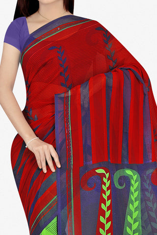 Designer Saree:atisundar Beautiful Designer Saree in Faux Georgette in Multi  - 11689 - atisundar - 2 - click to zoom