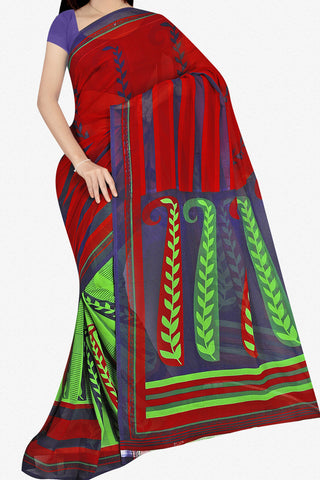 Designer Saree:atisundar Beautiful Designer Saree in Faux Georgette in Multi  - 11689 - atisundar - 1 - click to zoom