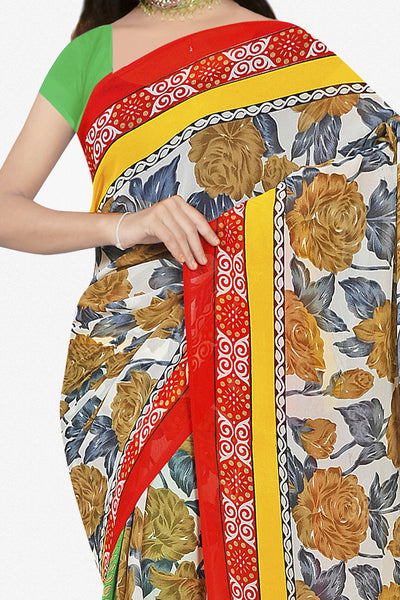 Designer Saree:atisundar pretty Designer Saree in Faux Georgette in Multi  - 11690 - click to zoom