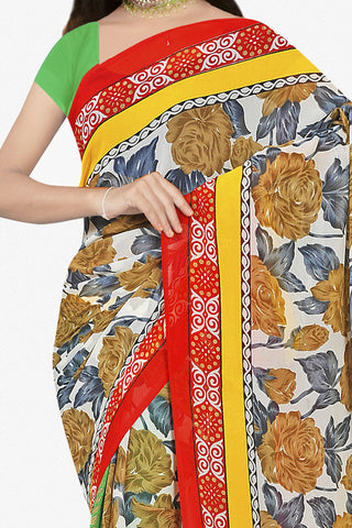 Designer Saree:atisundar pretty Designer Saree in Faux Georgette in Multi  - 11690 - atisundar - 2
