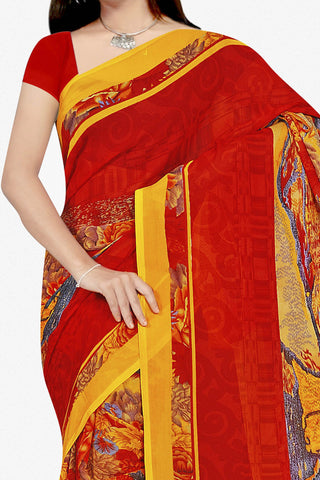 Designer Saree:atisundar marvelous Designer Saree in Faux Georgette in Red  - 11691 - atisundar - 2