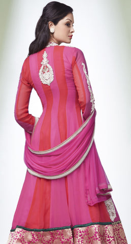 The Fashion Affaire::atisundar Superb   in Rani And Tomato - 5623 - atisundar - 4